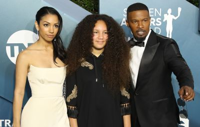 Corinne Foxx and Annalise Bishop With Dad Jamie Foxx