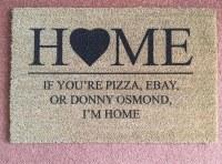 Donny Osmond's house mat