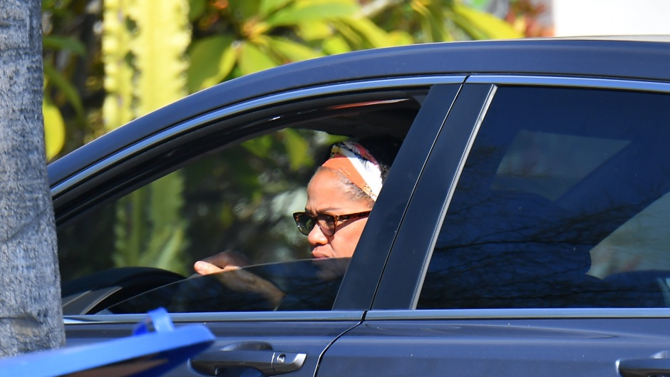 Doria Ragland, Mother of Meghan Markle is seen on the day the Queen gives harry and Meghan the okay to split their time between North America and the UK
