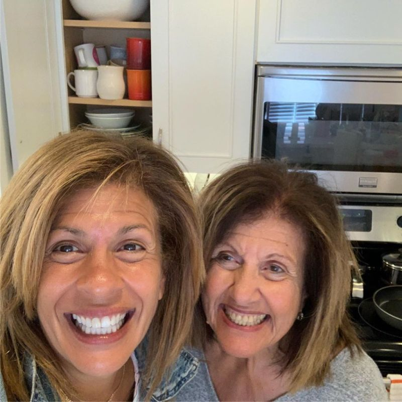 Hoda Kotb and her mother