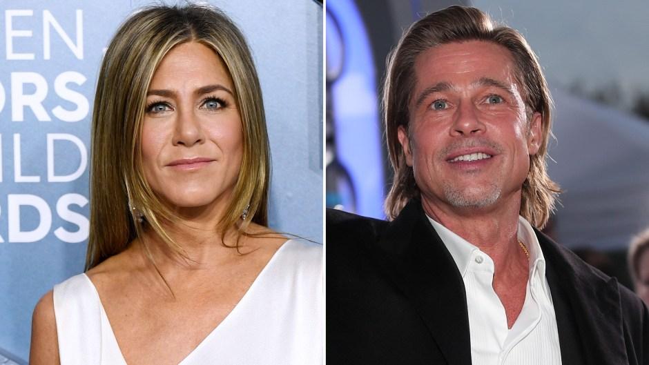 Jennifer Aniston and Brad Pitt at the 2020 SAG Awards