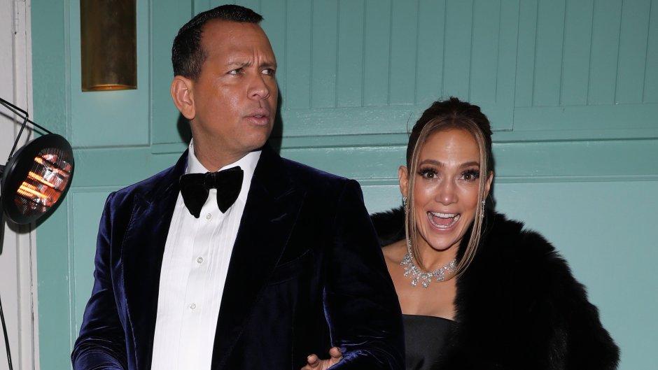 Jennifer Lopez and Alex Rodriguez Post-SAG Awards 2020