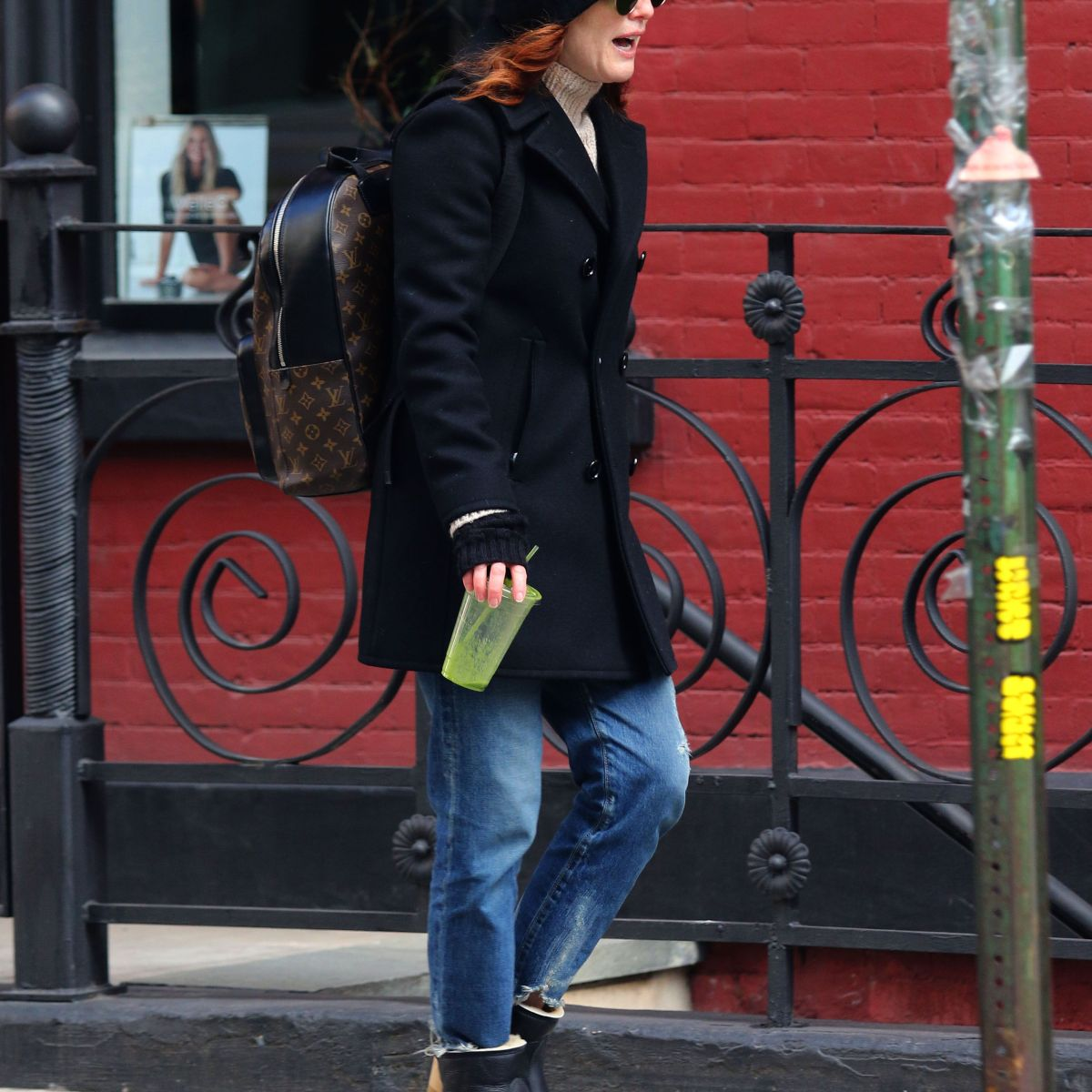 Julianne Moore Is Makeup-Free and All Smiles While Out on a Cold NYC Day