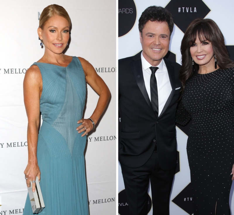 Kelly Ripa Donny and Marie Osmond