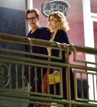 Kevin Bacon and Kyra Sedgwick make a rare public outing