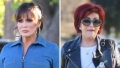 Sharon Osbourne and Marie Osmond film at a local Beverly Hills Park