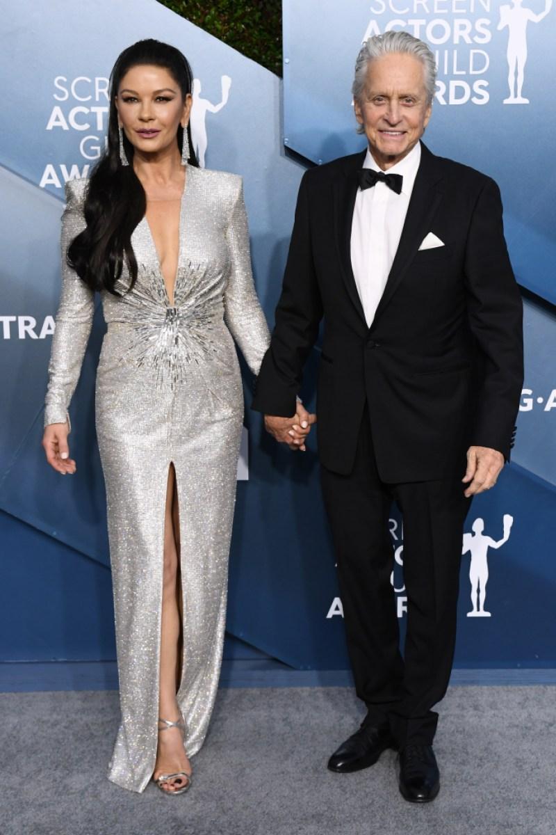 Michael Douglas and Catherine Zeta-Jones at the 2020 SAG Awards