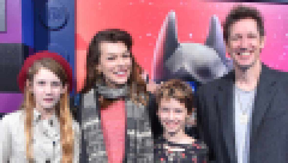Milla Jovovich and Paul W. S. Anderson With Their Daughters