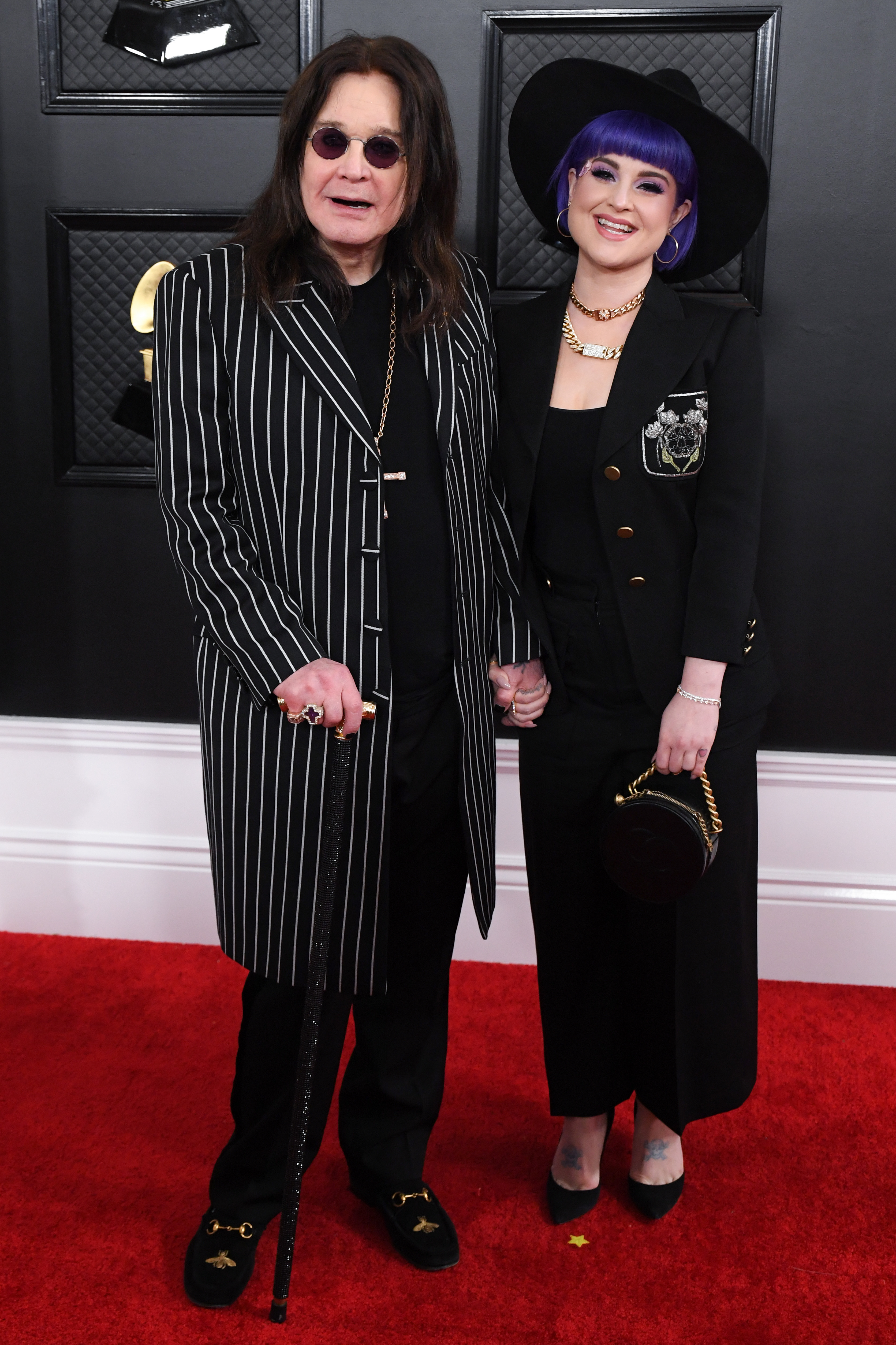 Ozzy Osbourne Walks 2020 Grammys Red Carpet With Daughter Kelly Just Days After Parkinson's Reveal
