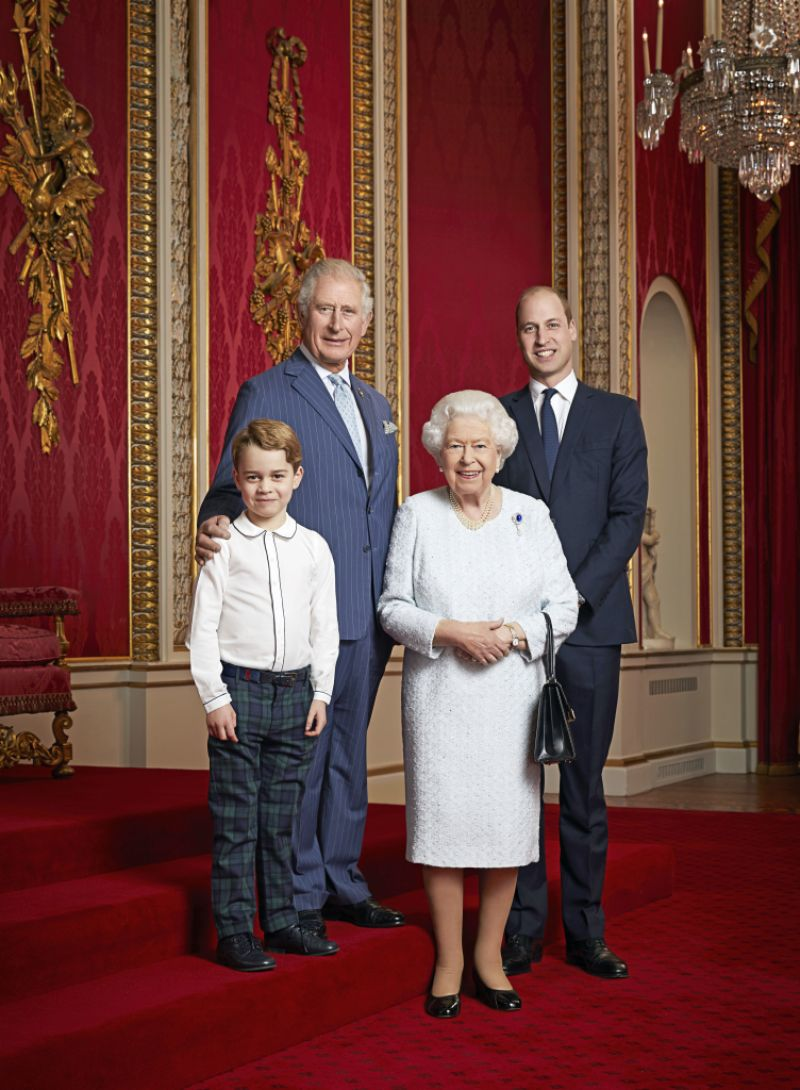 Prince George Prince WIlliam QUeen Elizabeth Prince charles