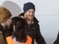 Prince Harry, The Duke of Sussex, pictured arriving on Vancouver Island