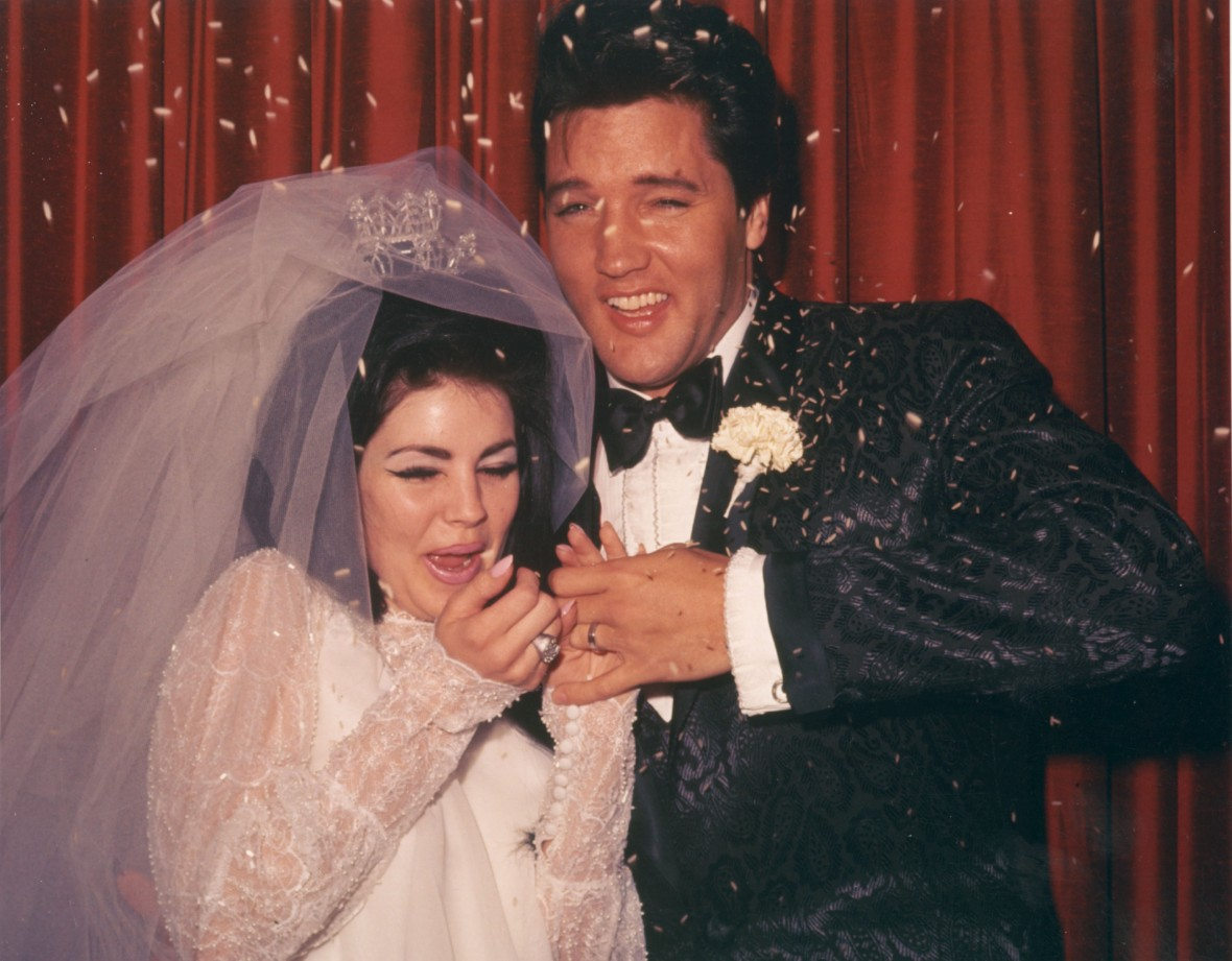 Priscilla Presley and Elvis Presley Wedding Photo