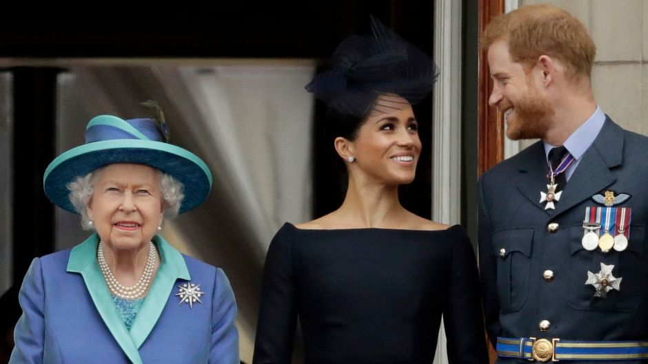 Queen Elizabeth With Meghan Markle and Prince Harry