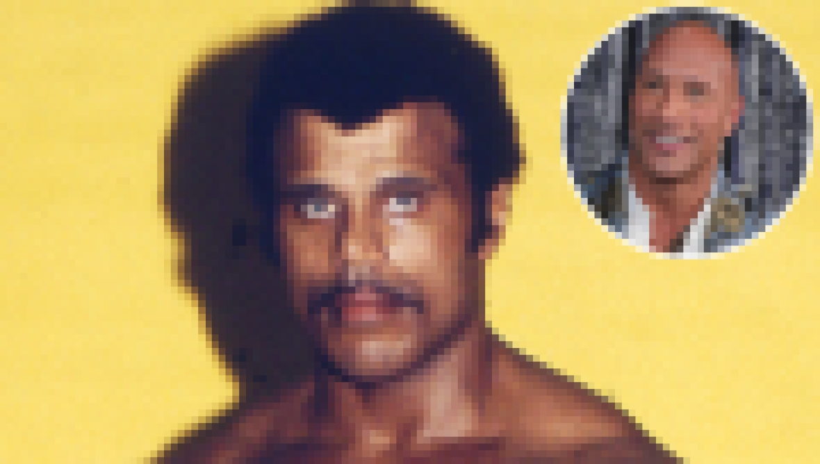 "Rocky Johnson and Dwayne Johnson (a.k.a. ""The Rock"")"