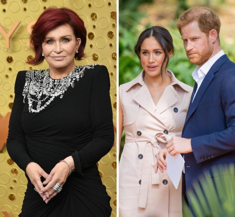 Meghan Markle Prince Harry Sharon Osbourne