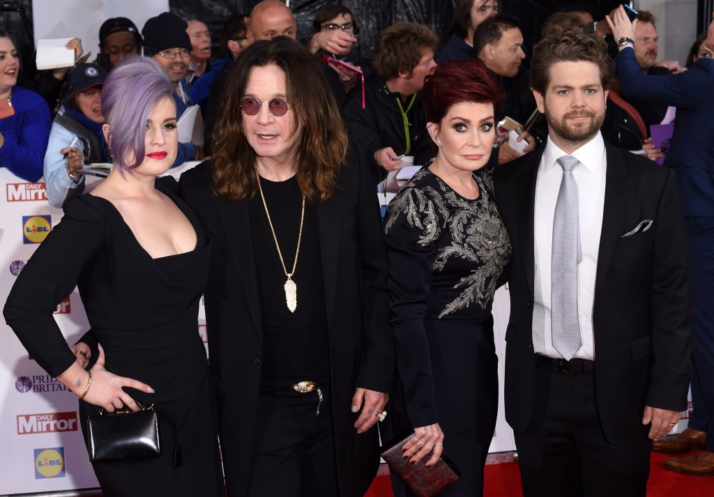 Sharon Osbourne and family