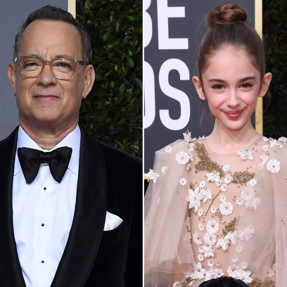 Tom Hanks and Julia Butters at the 2020 Golden Globes