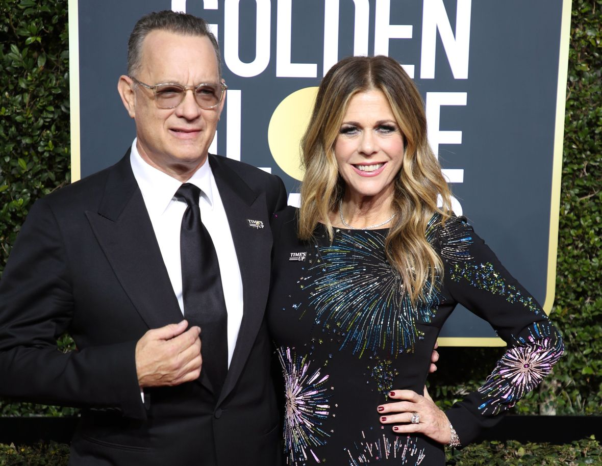 Tom Hanks and Rita Wilson at the 2018 Golden Globes