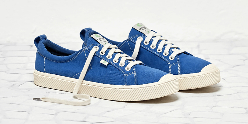 washed blue sneaker