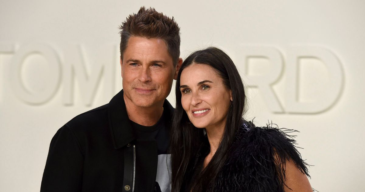 Sweet! Rob Lowe Reunites With and Embraces 'Longtime Pal' Demi Moore