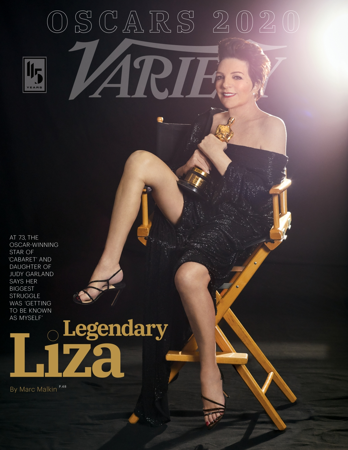 Liza Minnelli on the Cover of 'Variety'