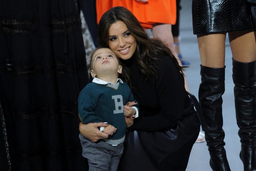 "Eva Longoria and her son Santiago attends ""Le Defile L'Oreal Paris"""