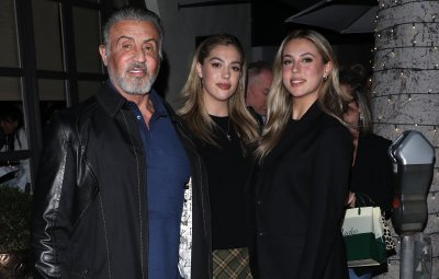 Sylvester Stallone grabs dinner with wife Jennifer and two daughters Sophia and Sistine at Madeo restaurant