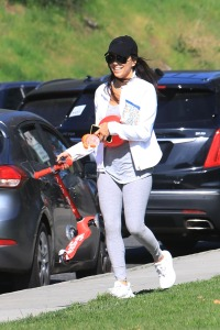 Eva Longoria and her husband Jose Baston takes their kid Santiago to the park in Beverly Hills
