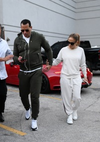 Jennifer Lopez and Alex Rodriguez go out to dinner alone together after celebrating her twin's birthday