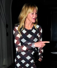 Melanie Griffith leaves dinner at Craigs Restaurant in West Hollywood, CA