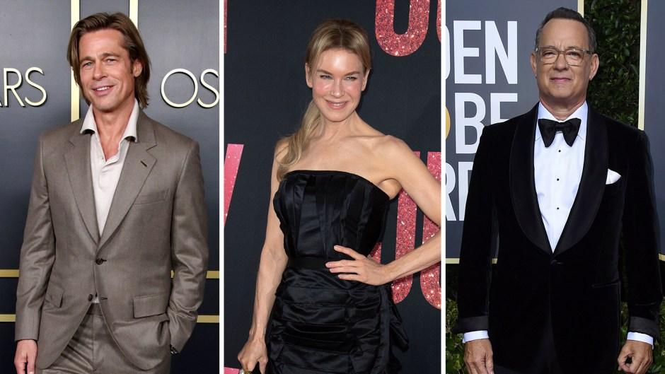 Brad Pitt, Renee Zellweger and Tom Hanks on Red Carpet