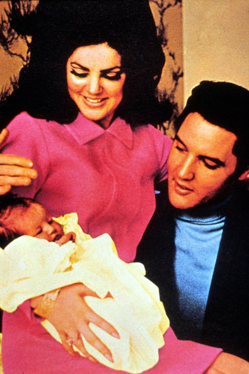 Elvis Presley Priscilla Presley Lisa Marie Presley