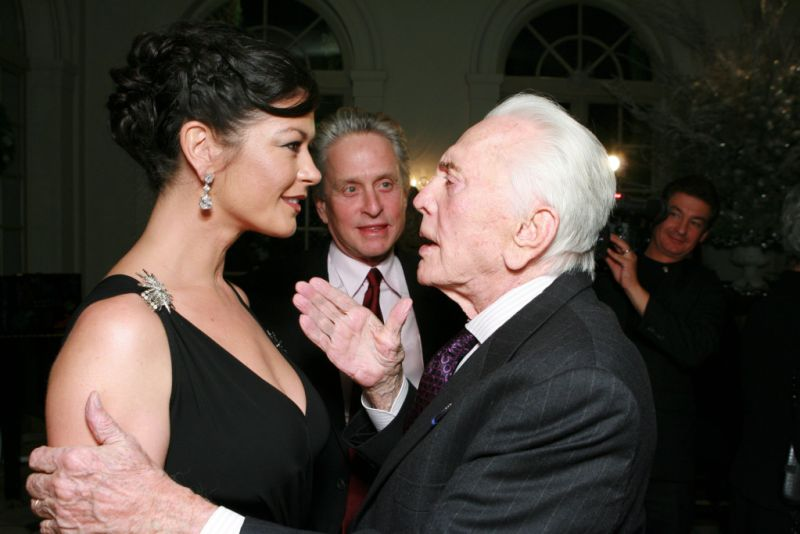 Catherine Zeta Jones Kirk Douglas Michel Douglas