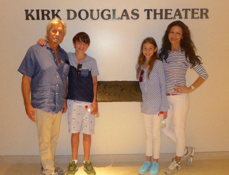 Catherine Zeta-Jones and family in Israel
