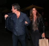 Cindy Crawford and Rande Gerber were all smiles while leaving dinner at the 'South Beverly Grill' in Beverly Hills, CA