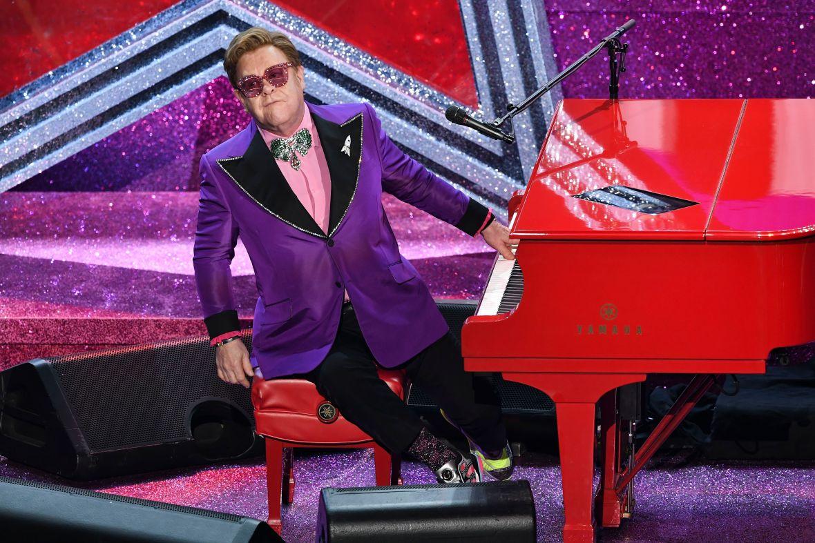 Elton John Performs at the 2020 Oscars