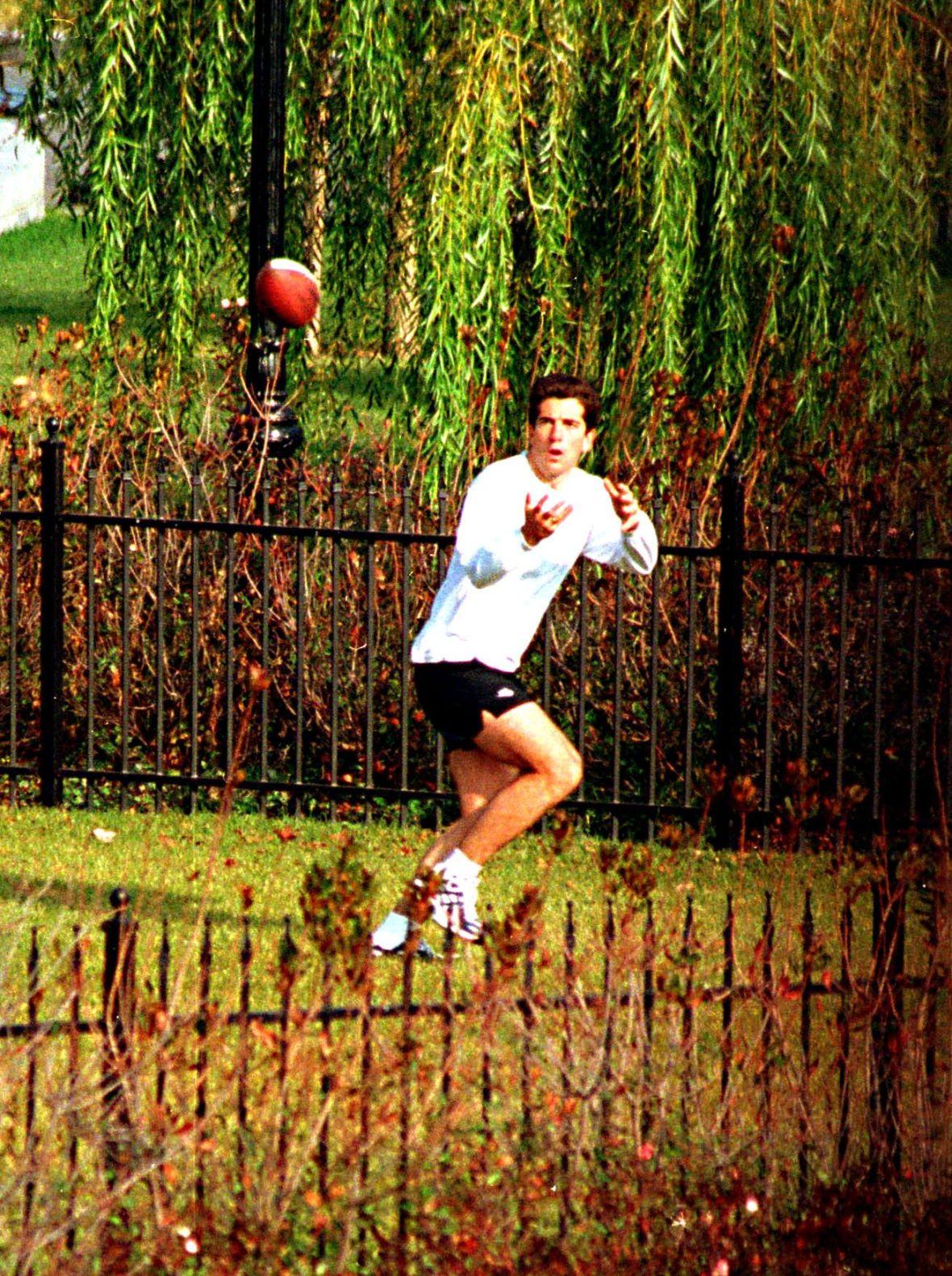John F. Kennedy Jr. Playing Football