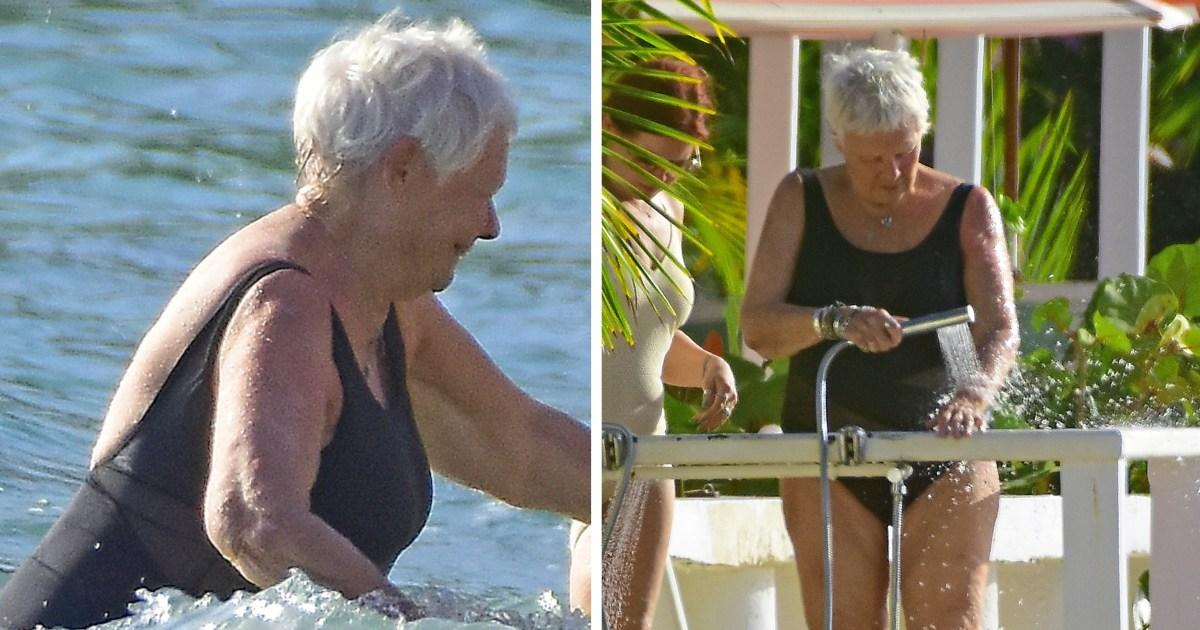 Judi Dench Enjoys Barbados Beach Vacation With Daughter