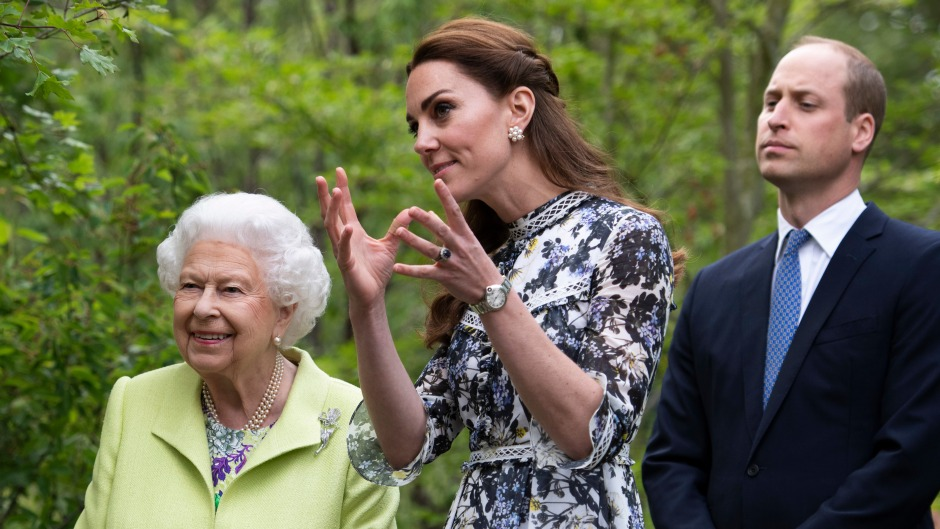 Kate Middleton Prince William and Queen Elizabeth