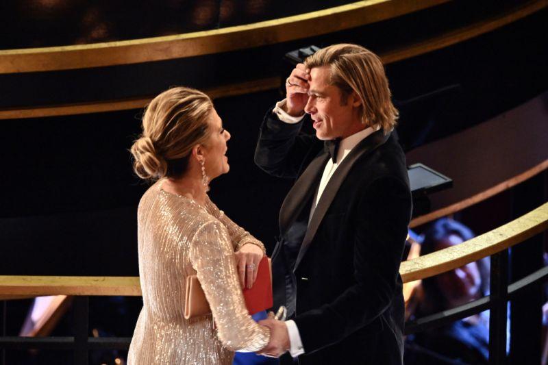 Brad Pitt and Rita Wilson