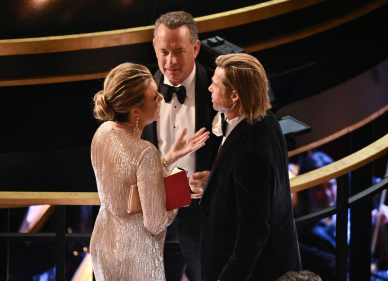Brad Pitt Tom Hanks and Rita Wilson