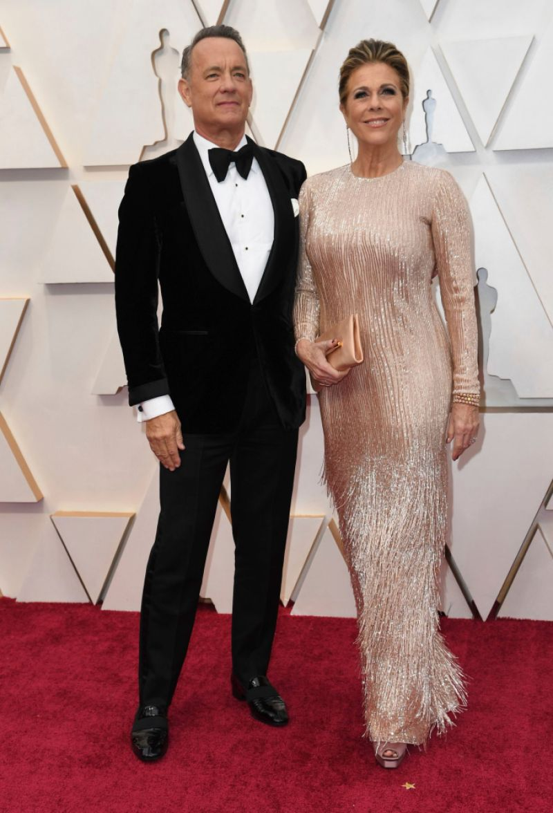 Tom Hanks and Rita Wilson on Oscars 2020 red carpet