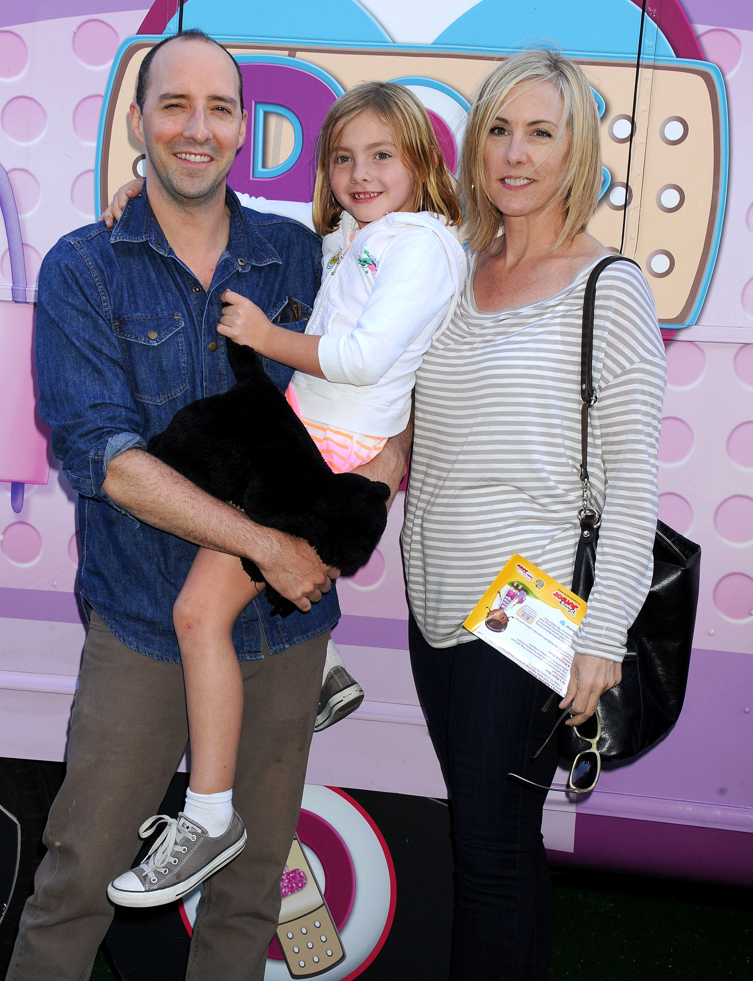 Tony Hale and Daughter Loy in 2013