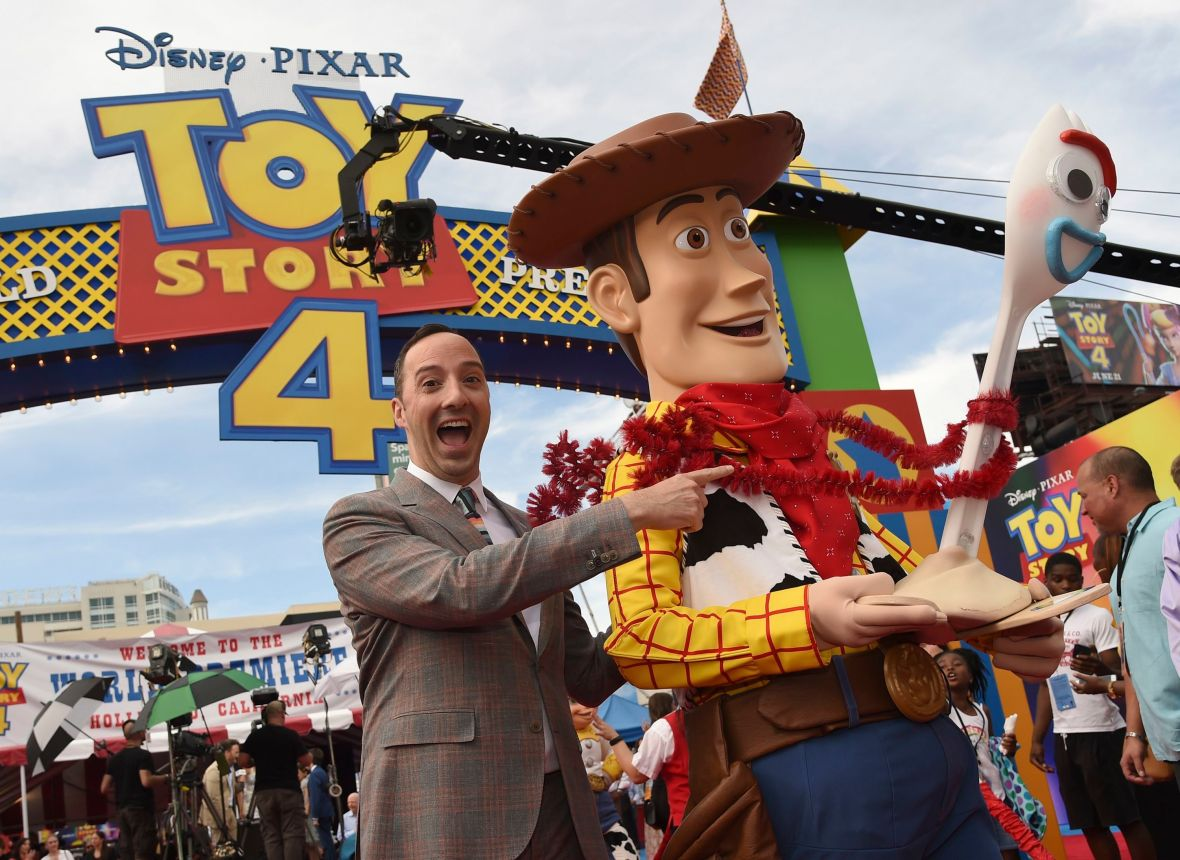 Tony Hale With Forky at the 'Toy Story 4' Premiere