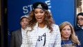 Tyra Banks is seen leaving Good Morning America.