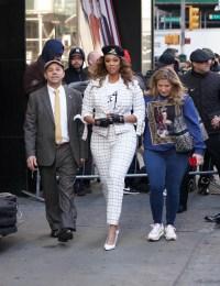 Tyra Banks is seen leaving Good Morning America.