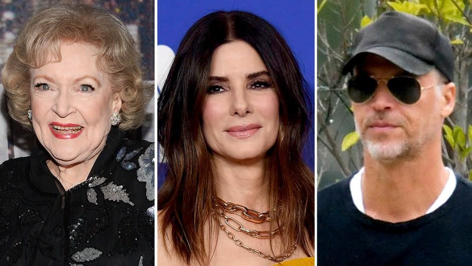 Betty White, Bryan Randall and Sandra Bullock
