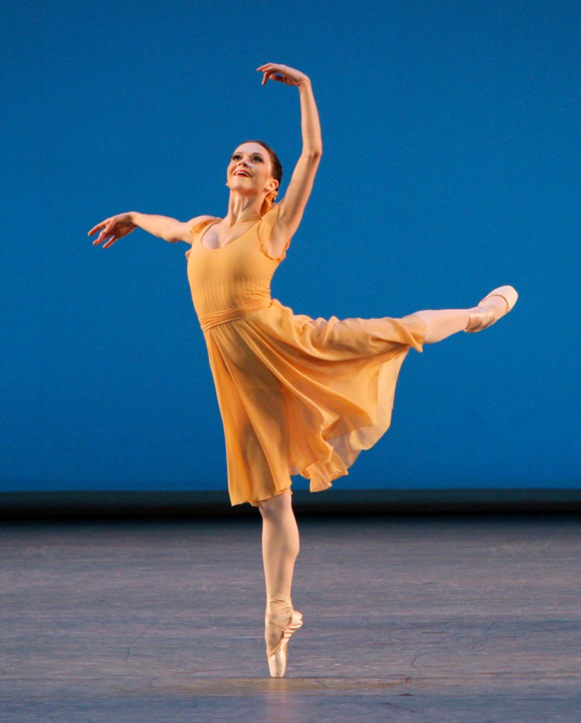 Megan Fairchild of New York City Ballet in Dances at a Gathering.