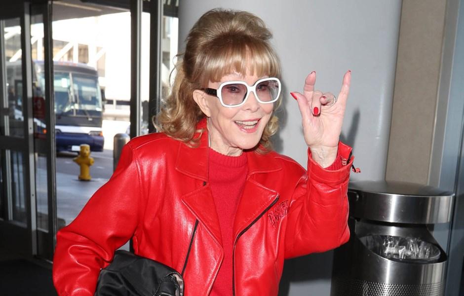 Barbara Eden at Los Angeles International Airport, USA - 12 Feb 2020