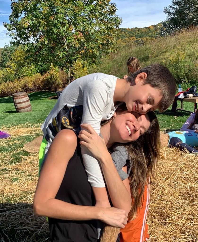 Gisele Bundchen and son